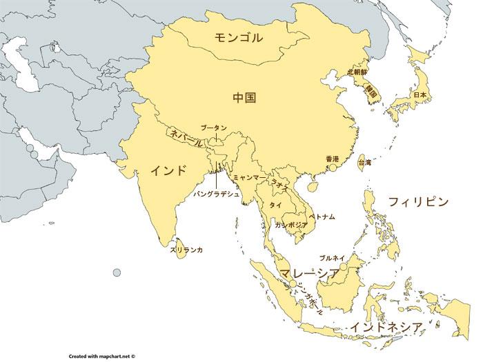 アジア周辺マップ